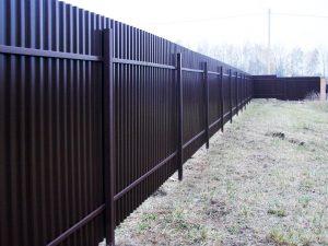 Купить забор из металлопрофиля и профнастила в Гродно