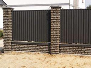 Забор из бессера и профнастила в Гродно