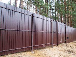 Заказать забор из металлопрофиля и профнастила в Гродно